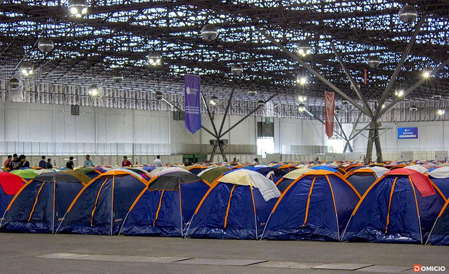 Área de acampamento dos campuseiros