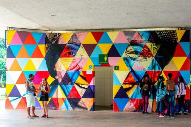 Painel do artista Eduardo Kobra - Parque Ibirapuera